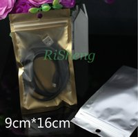 Wholesale 9X16CM X Translucent matte Aluminium foil Zip Lock Bag inner Golden Resealable plastic foil pouch zipper seal front clear
