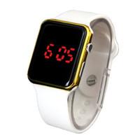 apple clock battery - 2016 Men Sport Watch Apple Watches Design Silicone Touch Screen Wristwatch Digital Bracelet Watches for Women Mens children student clock
