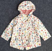 baby boy windbreaker - boys Autumn Outwear Baby Kids Clothing girls Jackets girls outerwear coats cartoon fruit hooded windbreaker jacket