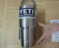 Wholesale HOT Yeti cup oz oz Rambler Tumbler Bilayer Stainless Steel Insulation Cup OZ Cups Cars Beer Mug Large Capacity Mug Tumblerful