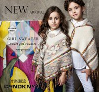 authentic ponchos - new Autumn and winter chndkny brand British sweater children s wear authentic cashmere coat of the girls stock