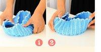 Wholesale Protection hand woven fruit storage basket sundry zakka basket