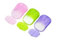 aroma paper - 4set Flower Aroma Paper Soap with storage box Portable Plate Case Home Shower Travel Hiking Holder Container
