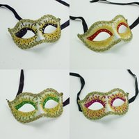 adult activity holidays - Men Women Venetian Masquerade Masks Holiday Prop Party Masks Ladies Colors Halloween Masks Colleagues Party Activity Face Masks