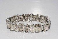 baguette cut diamond - 19 CT MEN S NATURAL BAGUETTE ROUND CUT DIAMOND BRACELET K GOLD