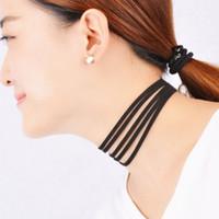 al por mayor la cinta collar de múltiples capas-2016 de la cinta de múltiples capas de terciopelo Negro gótico de la vendimia de Bohemia Collar Cuerda Gargantilla cadena de la cuerda joyería de moda