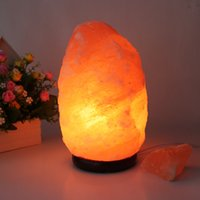 base salt - 100 New Himalayan Salt Lamp with Neem Wood Base Plug Switch LED Lamp for Air Purification Therapy Natural Mineral Rock Light