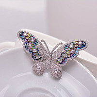 Celtic allergy alloys nickel - Luxury Full AAA Cubic Zirconia Wedding Brooch Butterfly Brooch Pin Suit Scarf Clip Unleaded Nickel Free Not Allergies