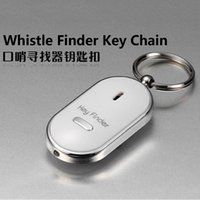 Wholesale 1 pieces White Mini LED key finder keychain whistle sound sensor anti lost creative gifts strange new