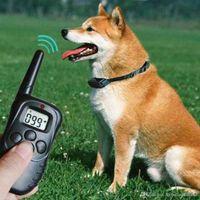 Wholesale 2016 NEW D M LCD LV Yard Level Electric Shock Vibration Remote Anti Bark Pet Dog Training Collar