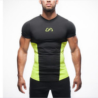 Wholesale Compression Under Base Layer T Shirts Athletic Skin Tops Youths Short sleeve Sports Body Armour Mens Fitness Gym Clothing Tshirt