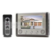 al por mayor alambre sistema de cámaras de seguridad-7 pulgadas con cable de vídeo de puerta del teléfono del sistema de puerta del sistema de Bell Home Security Entry de 2 vías Intercom IR cámara