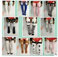 bamboo panda socks - Children cartoon Totoro fox panda Long socks NEW lovely boy Girls cm cartoon socks COLORS