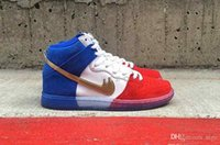 2016 SB Dunk High PREM Tricolor Skateboard Chaussures de course Women And Mens Athletics Sport Skateboard Trainer Sneakers Chaussures Taille 36-44
