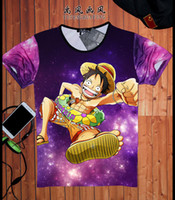Wholesale T Shirt Anime One Piece D Tshirt Homme Ace Luffy Summer Short Sleeve Fashion Streetwear Sport Tops Young Boys Tees T shirt