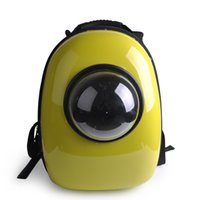 Wholesale DHL SF_Express Space Capsule Shaped pet backpack Pet Carrier Breathable PC pet dog outside Travel bag portable bag cat bags