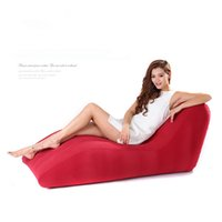 flocked inflatable sofa bed - Type s Flocking inflatable sofa chair Outdoor leisure chair Inflatable sofa European style single bed