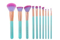 best hot brushes - 2016 hot selling and best quality Presale NEW Spectrum Brushes Mermaid Dreams Piece Vegan Brush Set GlamCase