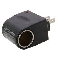 Wholesale 100V AC to V DC Car Cigarette Lighter Socket Charger Outlet Adapter US Plug Black pieces