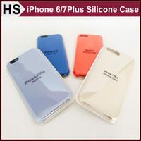 Silicone apple iphone gros France-Pour iPhone 7 6 6S Plus Etui en silicone 5S SE officiel iPhone7 chiffon doux Skins Inner Cover Téléphone avec Wholesale Package Retail
