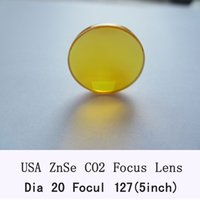 Wholesale USA ZnSe Focus Lens mm Dia mm inch Focal for CO2 Laser co2 laser engrave machine co2 laser cutting machine