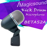 bass drum mic - Kick Drum Bass Microphone BETA52A Top Quality BETA52 Vocal Instrument Mic Professional Sound System without Switch A