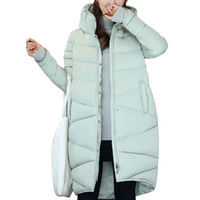 Wholesale 2016 Winter Jackets for Women Slim Thickened Turtleneck Warm Long Coat Cotton Padded Coats Woman Parka Plus Size Outwear Casacos Colors