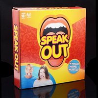 Wholesale Speak Out Game Party Challenge Game Watch Your Mouth Funny Board Party Mouthguard Guess Words Game Christmas Gift Free DHL