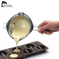 baking furnace - New Chocolate Melting Pot Stainless Steel Furnace Heated Milk Bowl with Handle Heated Butter Tool Baking Pastry Tools
