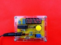 Wholesale DIY Kits Hz MHz Crystal Oscillator tester Frequency Counter Meter with case