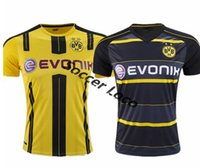 Wholesale Top Thai shirt Borussia Dortmund soccer jersey REUS AUBAMEYANG MKHITARYAN WEIGL PULISIC Football Shirts Maillot