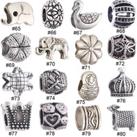 Wholesale DIY European Beads For Charms Bracelet Necklace Big Hole Tibetan Silver Jewelry Accessories European Loose Beads New Arrival