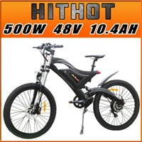 Wholesale In Stock Addmotor HITHOT Mountain Electric Bicycle H5 Sport High Fork Black V W AH quot Fork Suspension Comparable Electric Bike