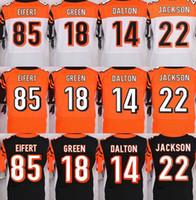 bengals rugby jersey - Cincinnati NIK Elite Bengals jerseys rugby football jerseys DALTON GREEN EIFERT JACKSON black orange white freeshipping