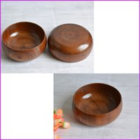 Wholesale Wooden Round Bowl Wood Soup Rice Noodles bowls Diameter cm inch Bowl Tableware Kitchen Tools