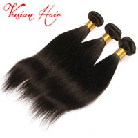 Wholesale Brazilian Virgin Hair Weaves Straight Bundles Malaysian Peruvian Indian Human Hair Natural Color Straight Remy Hair Can Be Dyed