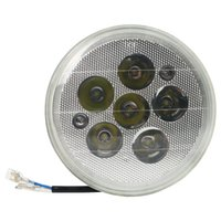 headlight assembly - 12V W LEDS Round Front Headlights Half Assembly for Universal Motorbike Motorcycle Replacement