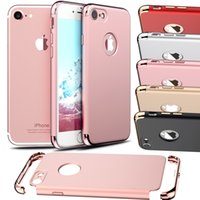 Wholesale for iPhone Case piece Luxury Thin Shockproof Armor Anti Fingerprint Frosted Protective Shiny Plating bumper New Back Case Cover on Apple