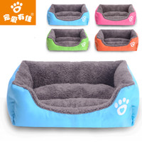 Wholesale Pet supplies factory direct selling candy color square Teddy dog bed and autumn winter warm pet dog bed cat litter pad