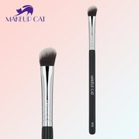 angled blush - Makeup Cat Pro Foundation Blush Blending Eye Shadow Makeup Brush Cosmetics Flat Round Angled Tapered Top Synthetic Hair B06