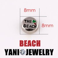 beach glass necklaces - Hot selling mm the Beach Family Floating Charms Alloy Floating Locket Charm for DIY Living Glass Locket Bracelet Necklace