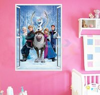 bathroom wall art and decor - 100pcs movie wall stickers snow queen and princess cartoon decal removable d wall decor window sticker home decoration diy zooyoo1419