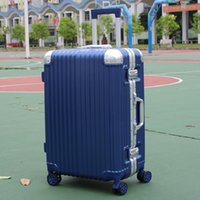 Wholesale aluminum frame ABS inch students trolley case customs combination lock Travel luggage rolling suitcase Boarding box