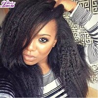 Brésilien Yaki Human Virgin Hair Mix Bundle / Lot 7A Grade kinky straight hair Couleur naturelle Teinté brésilien Yaki Straight Human Hair Wave