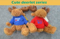 best christmas sweater - Fasionable soft plush toys stuffed animals toys deerlet with embroidered design on the sweater stuffing toys best gift for kids