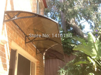 Wholesale DS100300 A x300CM depth cm width cm house balcony door window use aluminum bracket polycarbonate door awnings