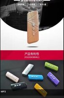 Wholesale 2016 New USB MP3 Player without Screen Support Micro SD Card G TF Card MP3 With Gift Retail package earphone