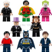 Wholesale DC Super Heroes Minifigures Batman Catwoman Joker Penguin Building Blocks Set Models Figures Bricks Toys