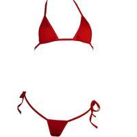 Wholesale Women s triangle brazilian transparent triangle sexy mini micro bikini swimwear beachwear bra g string thong underwerar lingerie sets