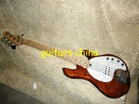 Wholesale NEW Custom Strings Electric Bass Guitar brown StingRay style V Amplifier circuit Bass OEM guitar